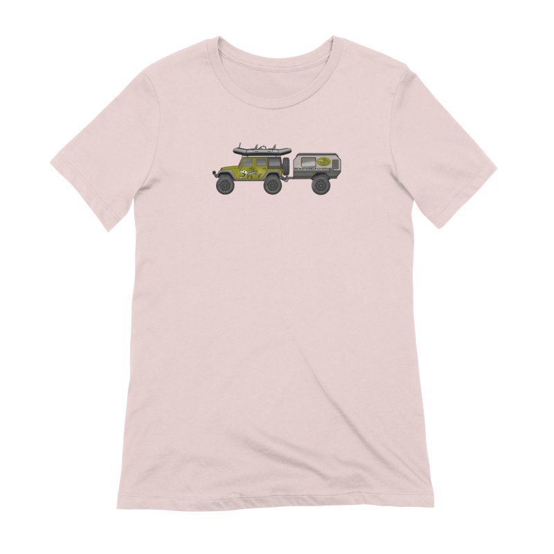 Jeep JK Adventure Rig Women's Extra Soft T-Shirt by Boneyard Studio - Boneyard Fly Gear
