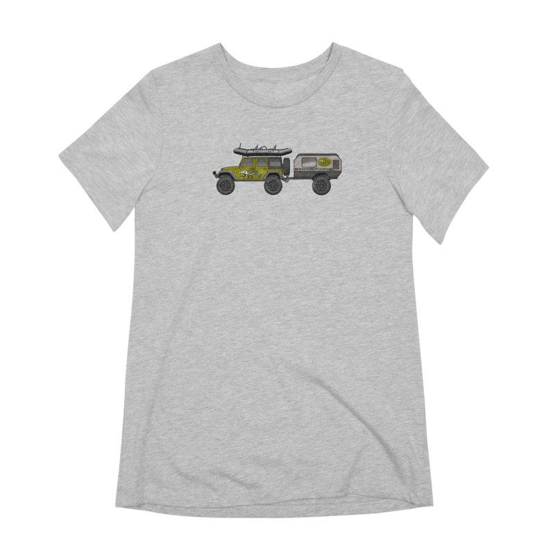 Jeep JK Adventure Rig Women's Extra Soft T-Shirt by Boneyard Studio - Boneyard Fly Gear