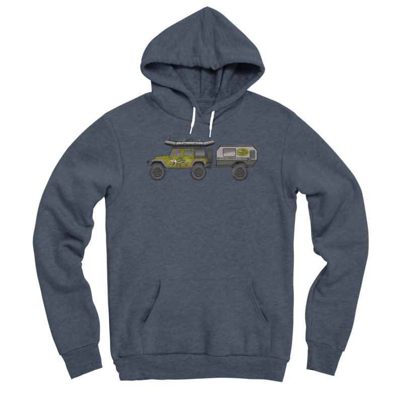 Jeep JK Adventure Rig Women's Sponge Fleece Pullover Hoody by Boneyard Studio - Boneyard Fly Gear