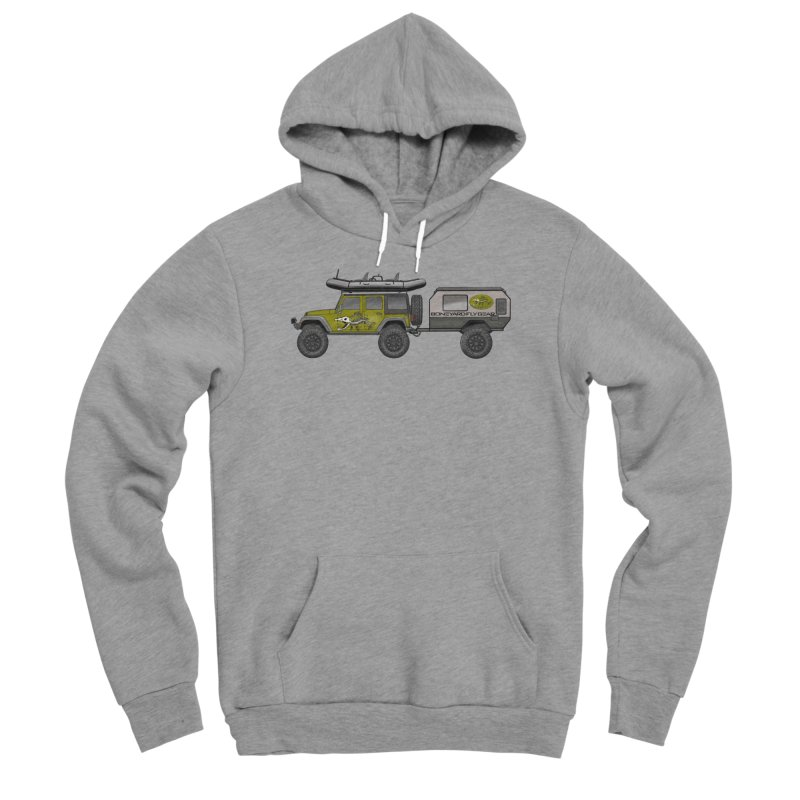 Jeep JK Adventure Rig Men's Sponge Fleece Pullover Hoody by Boneyard Studio - Boneyard Fly Gear