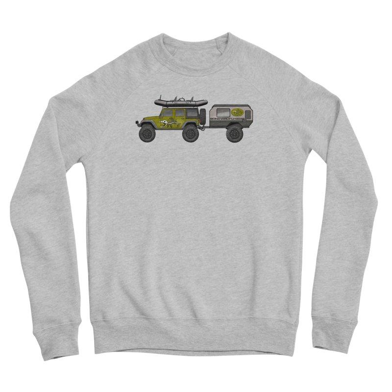 Jeep JK Adventure Rig Women's Sponge Fleece Sweatshirt by Boneyard Studio - Boneyard Fly Gear