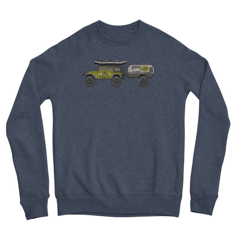 Jeep JK Adventure Rig Men's Sponge Fleece Sweatshirt by Boneyard Studio - Boneyard Fly Gear