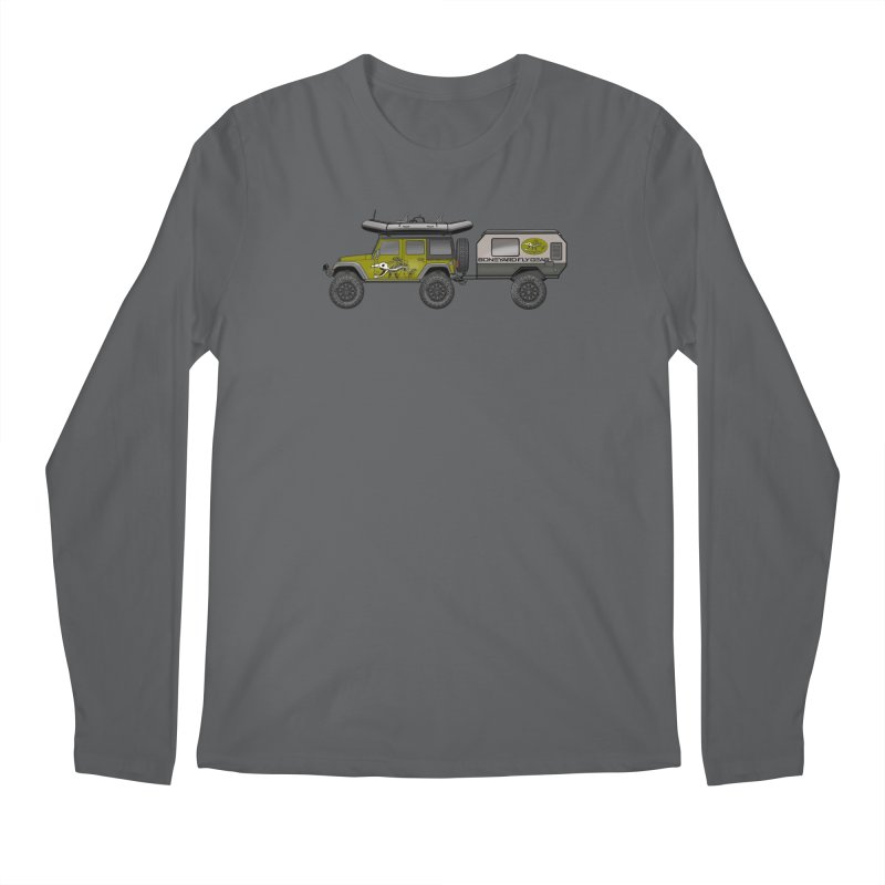 Jeep JK Adventure Rig Men's Longsleeve T-Shirt by Boneyard Studio - Boneyard Fly Gear
