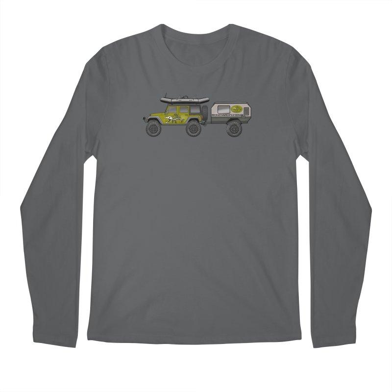 Jeep JK Adventure Rig Men's Longsleeve T-Shirt by Boneyard Studio - Boneyard Fly Gear