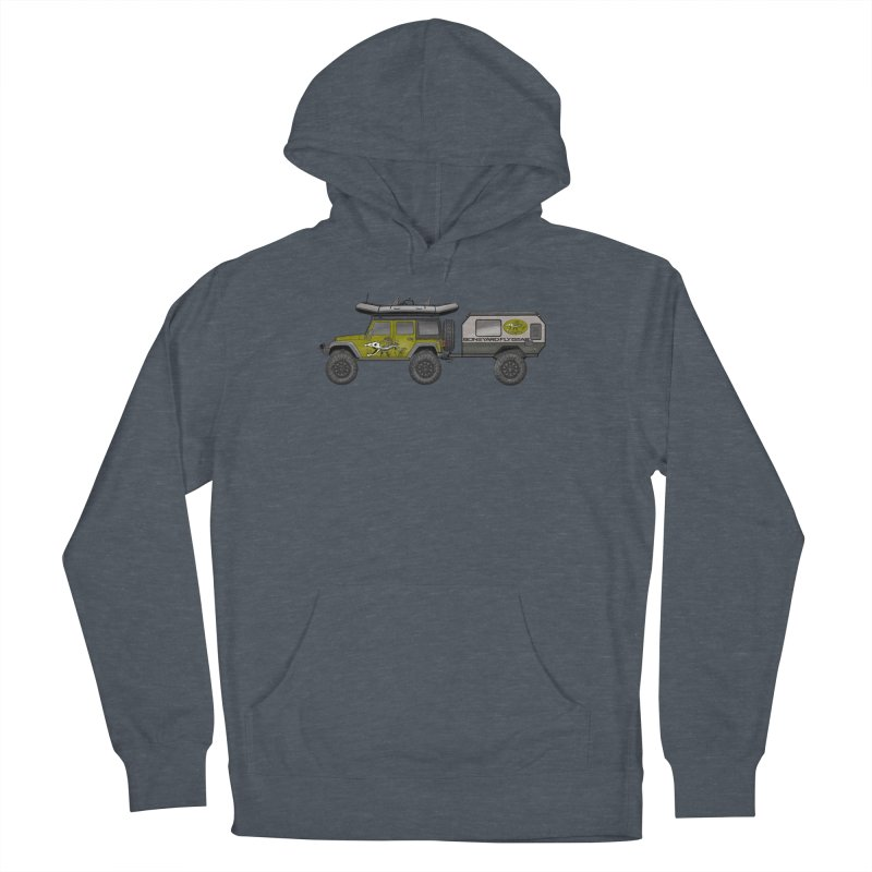 Jeep JK Adventure Rig Women's French Terry Pullover Hoody by Boneyard Studio - Boneyard Fly Gear
