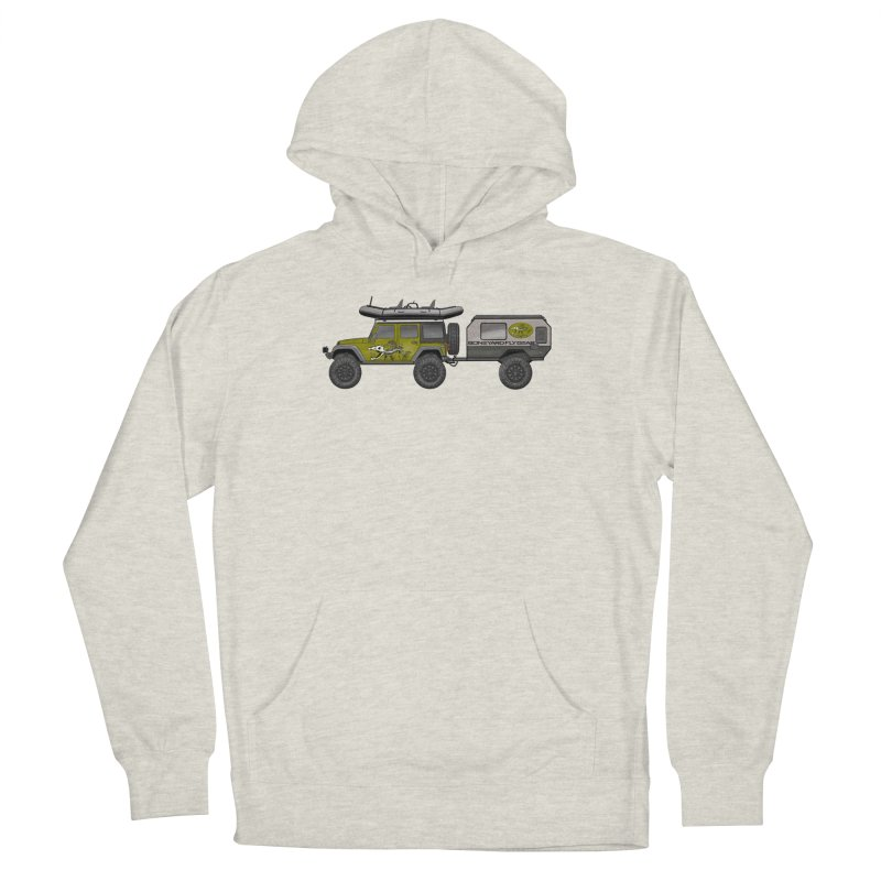 Jeep JK Adventure Rig Men's French Terry Pullover Hoody by Boneyard Studio - Boneyard Fly Gear