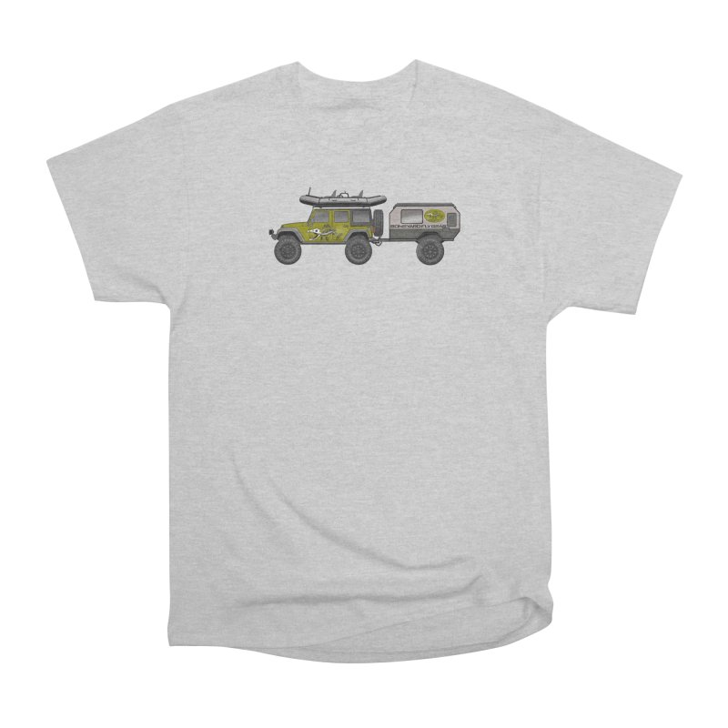 Jeep JK Adventure Rig Men's Heavyweight T-Shirt by Boneyard Studio - Boneyard Fly Gear