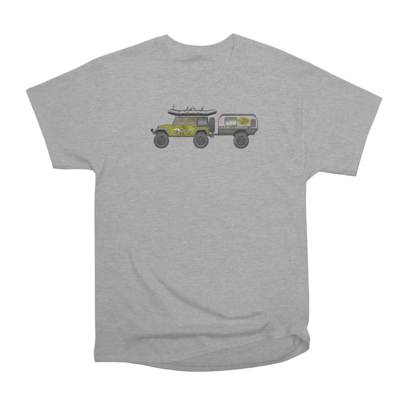 Jeep JK Adventure Rig Women's Heavyweight Unisex T-Shirt by Boneyard Studio - Boneyard Fly Gear
