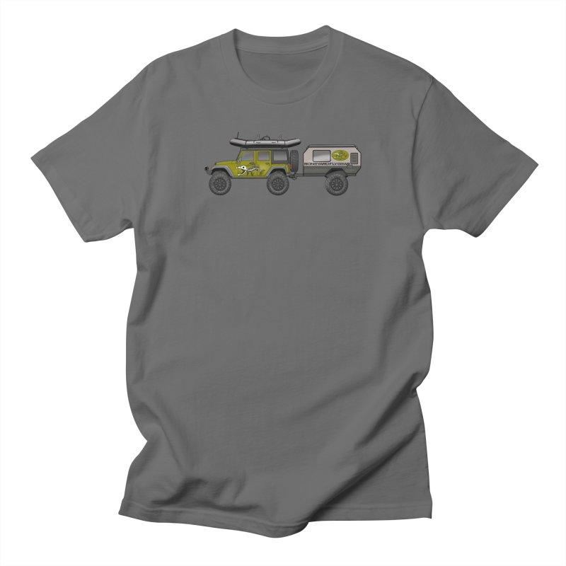 JK Overlander Adventure Rig Men's T-Shirt by Boneyard Studio - Boneyard Fly Gear