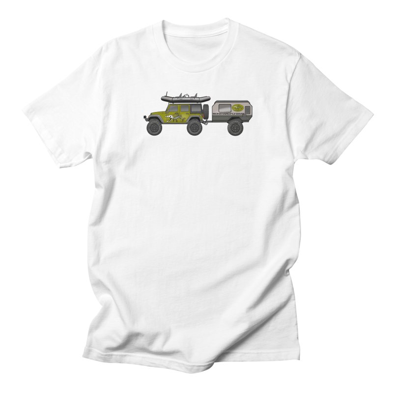 Jeep JK Adventure Rig Women's Regular Unisex T-Shirt by Boneyard Studio - Boneyard Fly Gear