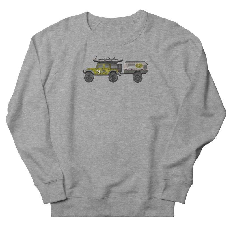 Jeep JK Adventure Rig Women's French Terry Sweatshirt by Boneyard Studio - Boneyard Fly Gear