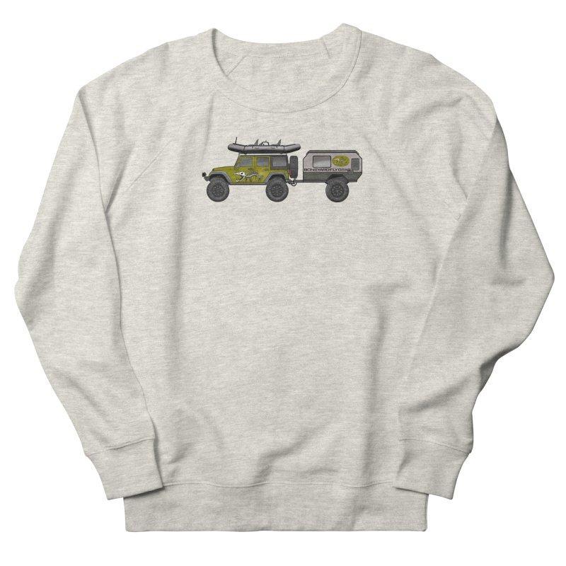 JK Overlander Adventure Rig Men's Sweatshirt by Boneyard Studio - Boneyard Fly Gear