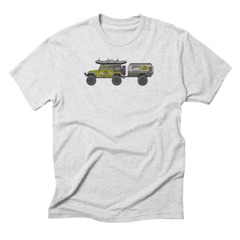 Jeep JK Adventure Rig Men's Triblend T-Shirt by Boneyard Studio - Boneyard Fly Gear