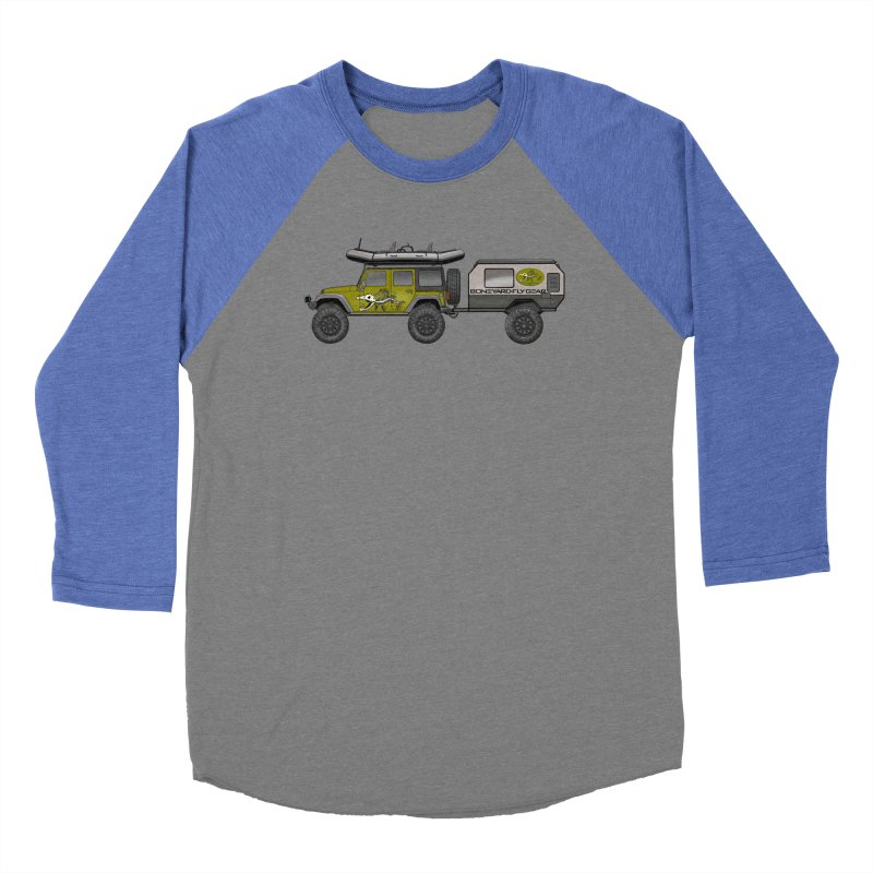 Jeep JK Adventure Rig Women's Baseball Triblend Longsleeve T-Shirt by Boneyard Studio - Boneyard Fly Gear