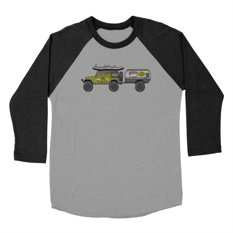 Jeep JK Adventure Rig Women's Baseball Triblend Longsleeve T-Shirt by Boneyard Studio - Boneyard Fly Gear