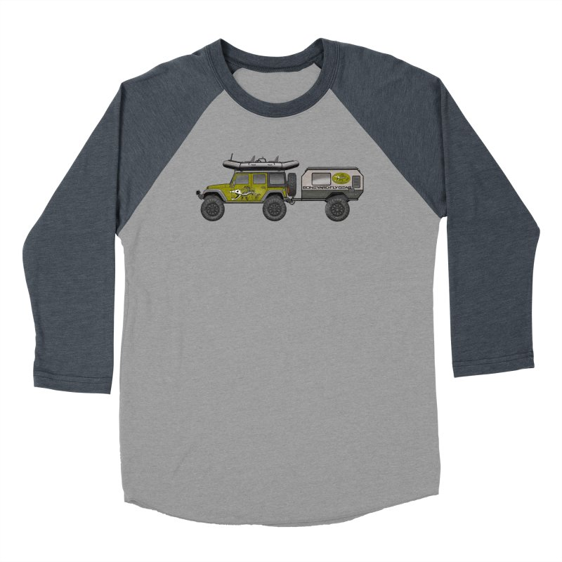 Jeep JK Adventure Rig Men's Baseball Triblend Longsleeve T-Shirt by Boneyard Studio - Boneyard Fly Gear