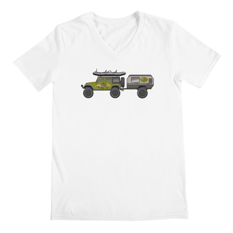 Jeep JK Adventure Rig Men's V-Neck by Boneyard Studio - Boneyard Fly Gear