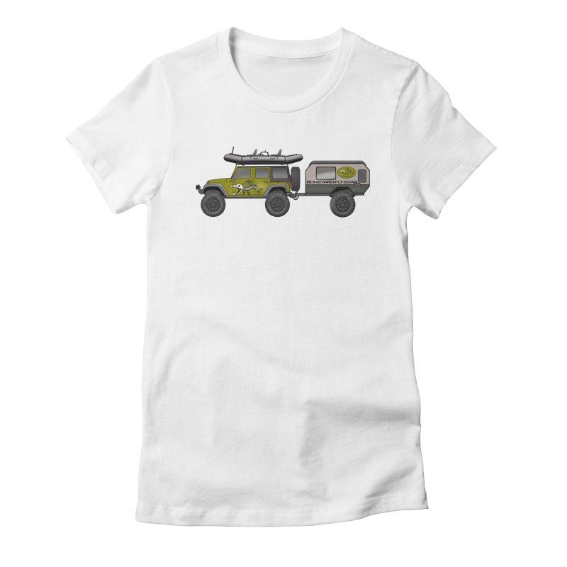 Jeep JK Adventure Rig Women's T-Shirt by Boneyard Studio - Boneyard Fly Gear