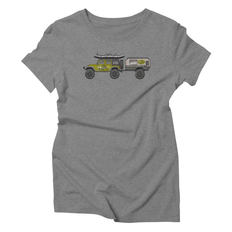 Jeep JK Adventure Rig Women's Triblend T-Shirt by Boneyard Studio - Boneyard Fly Gear