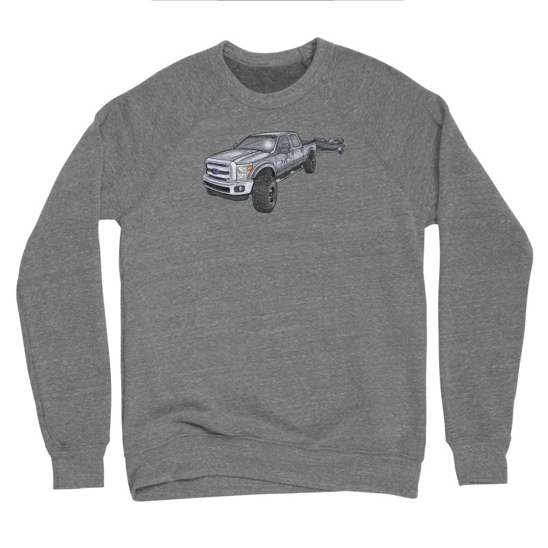 Ford F-250 Adventure Rig Men's Sponge Fleece Sweatshirt by Boneyard Studio - Boneyard Fly Gear