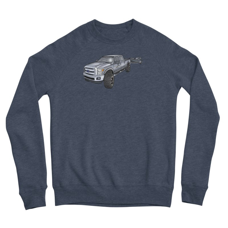 Ford F-250 Adventure Rig Men's Sponge Fleece Sweatshirt by Boneyard Studio - Boneyard Fly Gear