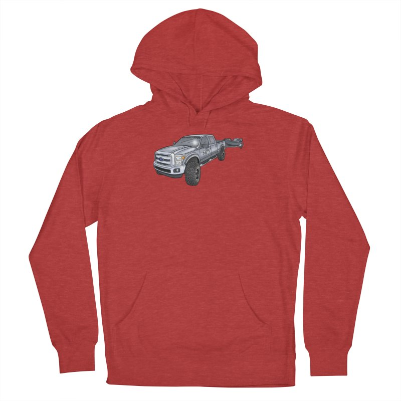 Ford F-250 Adventure Rig Men's French Terry Pullover Hoody by Boneyard Studio - Boneyard Fly Gear
