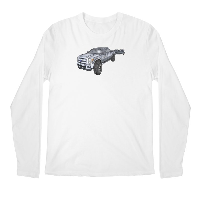 Ford F-250 Adventure Rig Men's Longsleeve T-Shirt by Boneyard Studio - Boneyard Fly Gear