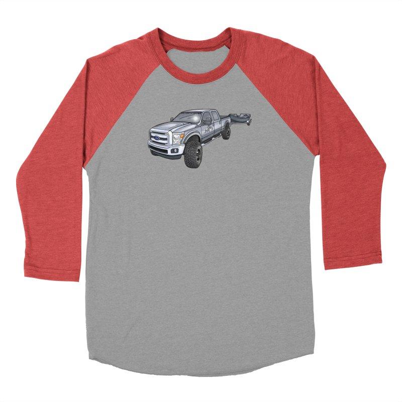 Ford F-250 Adventure Rig Men's Baseball Triblend Longsleeve T-Shirt by Boneyard Studio - Boneyard Fly Gear