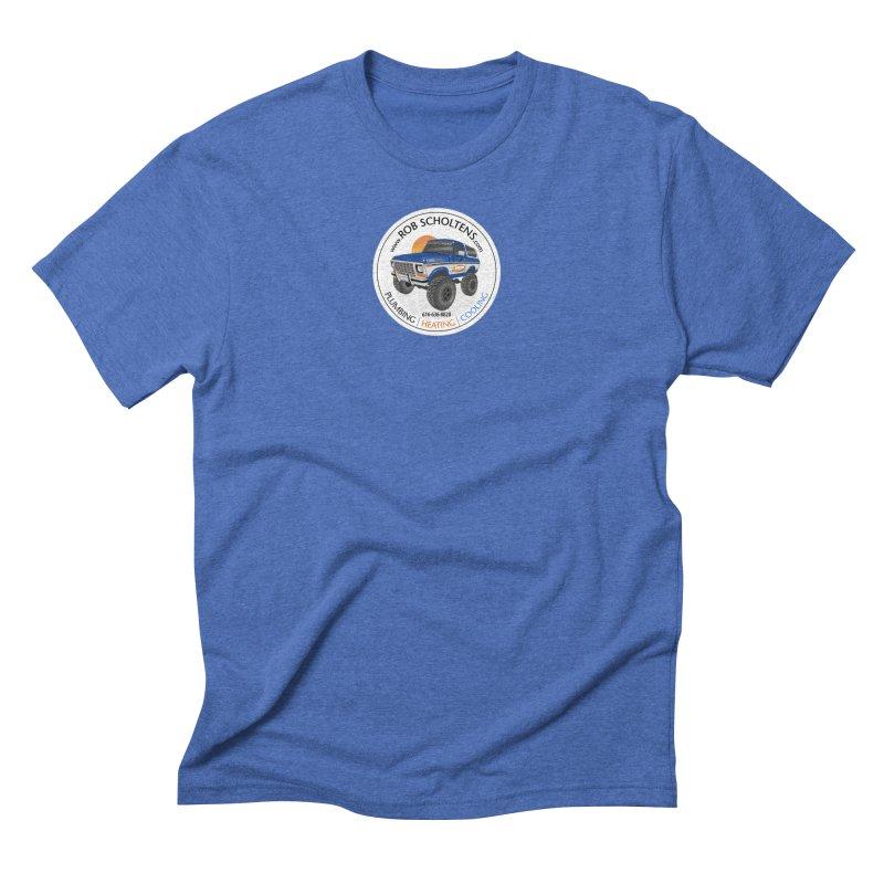 RS Bronco in Men's Triblend T-Shirt Blue Triblend by Boneyard Studio - Boneyard Fly Gear