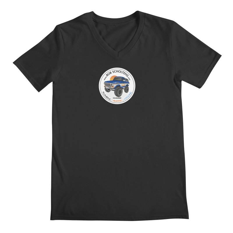 RS Bronco Men's V-Neck by Boneyard Studio - Boneyard Fly Gear