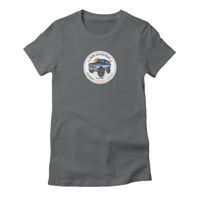 RS Bronco Women's Fitted T-Shirt by Boneyard Studio - Boneyard Fly Gear