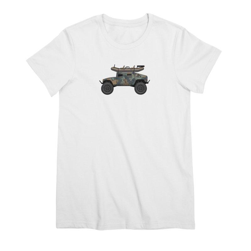 Humvee Adventure Rig Women's Premium T-Shirt by Boneyard Studio - Boneyard Fly Gear