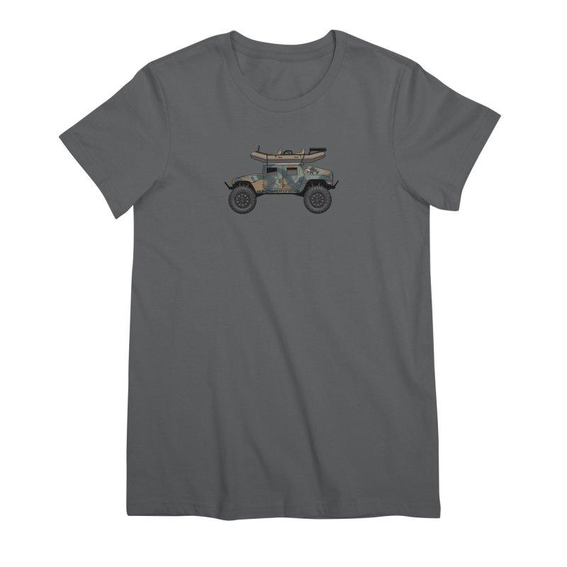 Humvee Adventure Rig Women's T-Shirt by Boneyard Studio - Boneyard Fly Gear