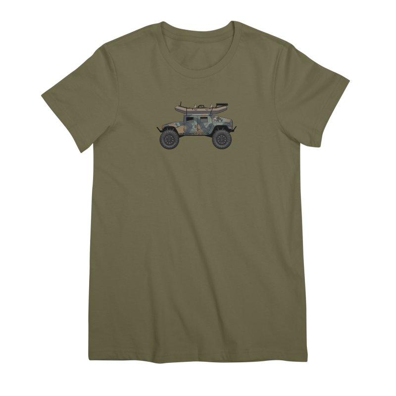 Humvee Adventure Rig Women's Premium T-Shirt by Boneyard Studio - Boneyard Fly Gear