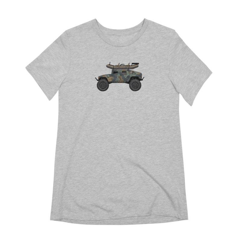 Humvee Adventure Rig Women's Extra Soft T-Shirt by Boneyard Studio - Boneyard Fly Gear