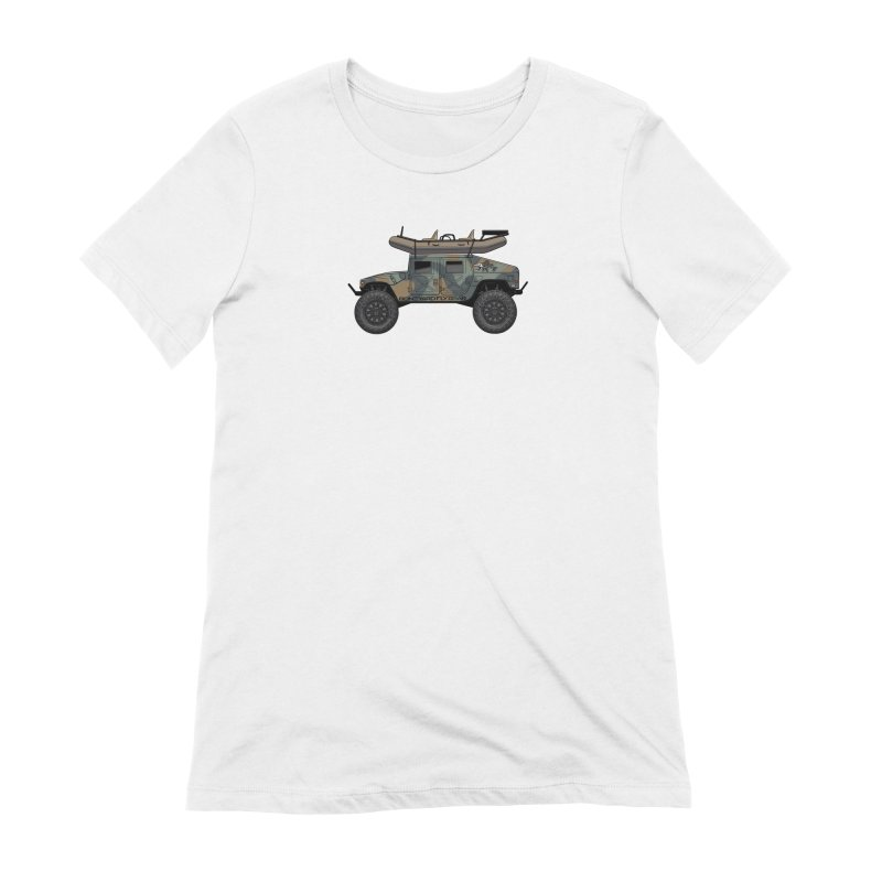 Humvee Adventure Rig Women's Extra Soft T-Shirt by Boneyard Studio - Boneyard Fly Gear