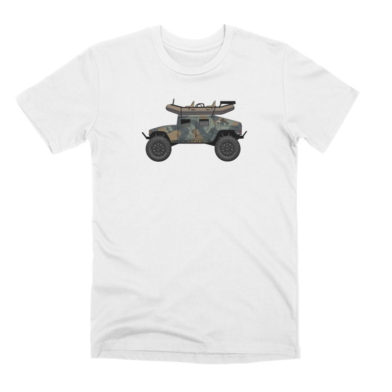 Humvee Adventure Rig Men's Premium T-Shirt by Boneyard Studio - Boneyard Fly Gear