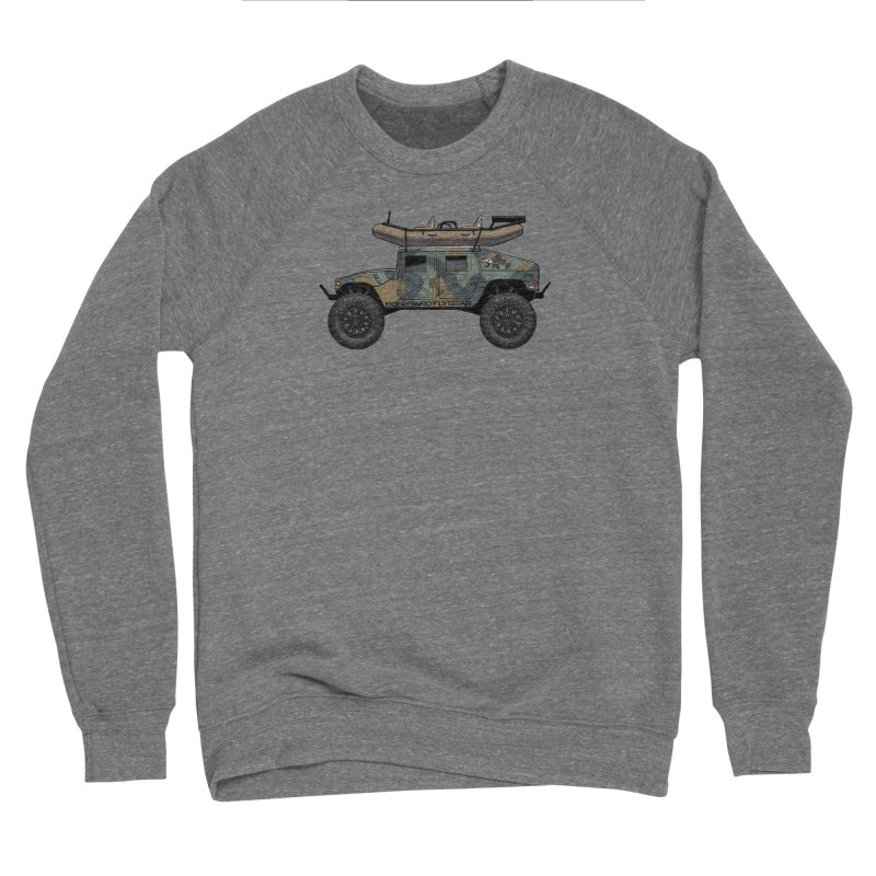 Humvee Adventure Rig Men's Sponge Fleece Sweatshirt by Boneyard Studio - Boneyard Fly Gear