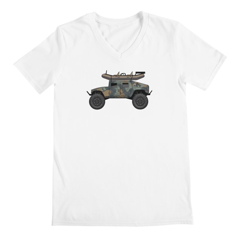 Humvee Adventure Rig Men's V-Neck by Boneyard Studio - Boneyard Fly Gear