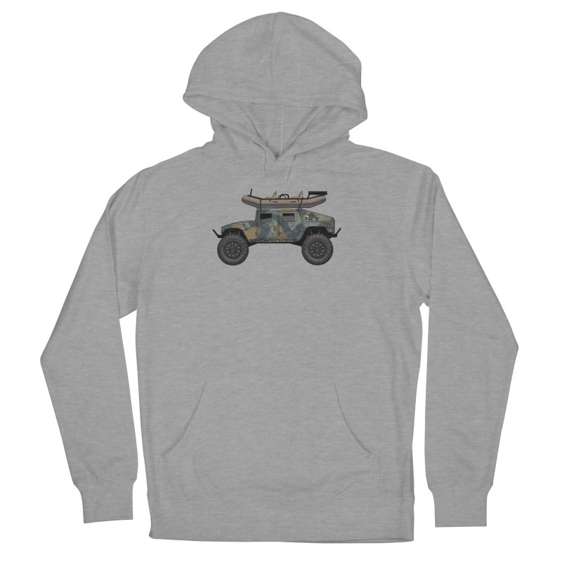 Humvee Adventure Rig Women's French Terry Pullover Hoody by Boneyard Studio - Boneyard Fly Gear
