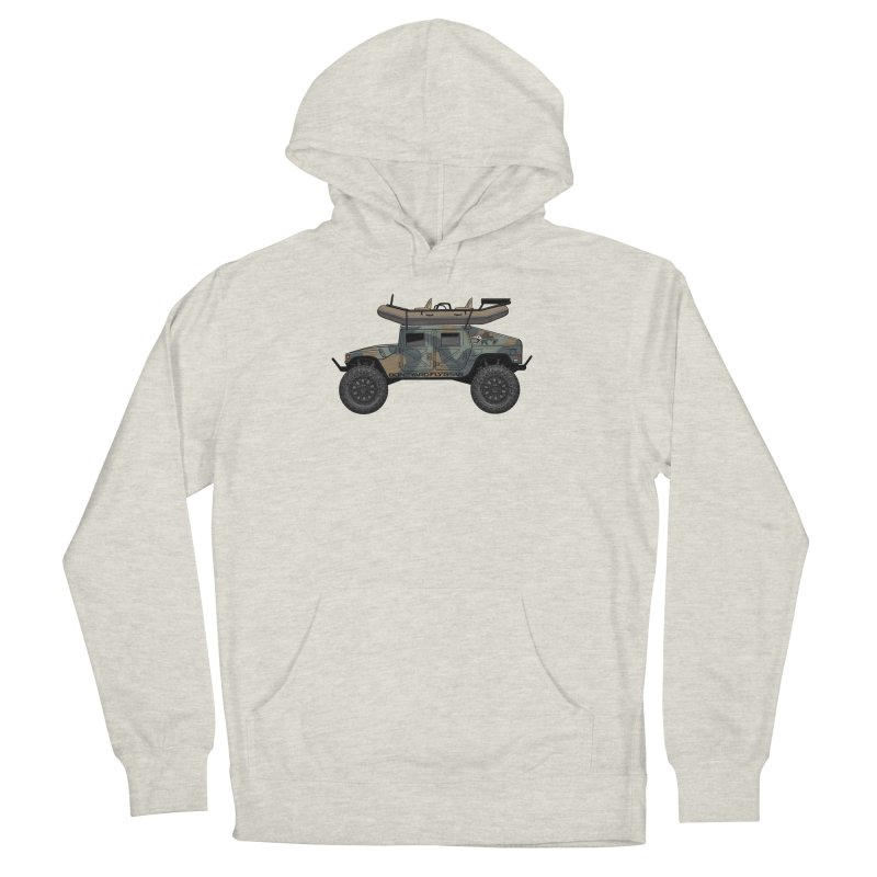 Humvee Adventure Rig Men's Pullover Hoody by Boneyard Studio - Boneyard Fly Gear