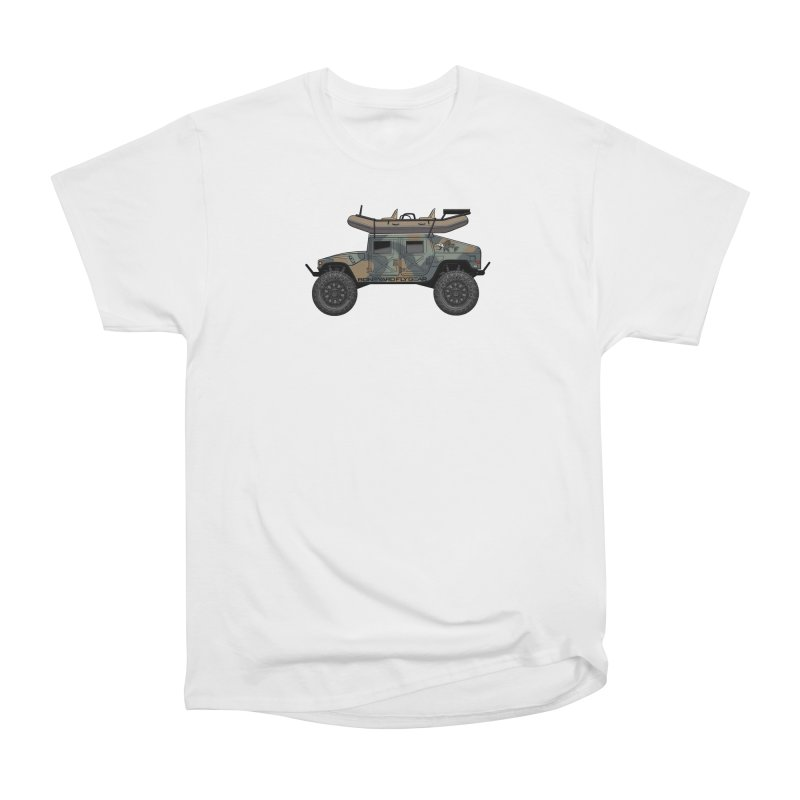 Humvee Adventure Rig Men's T-Shirt by Boneyard Studio - Boneyard Fly Gear