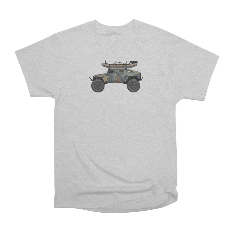 Humvee Adventure Rig Women's Heavyweight Unisex T-Shirt by Boneyard Studio - Boneyard Fly Gear