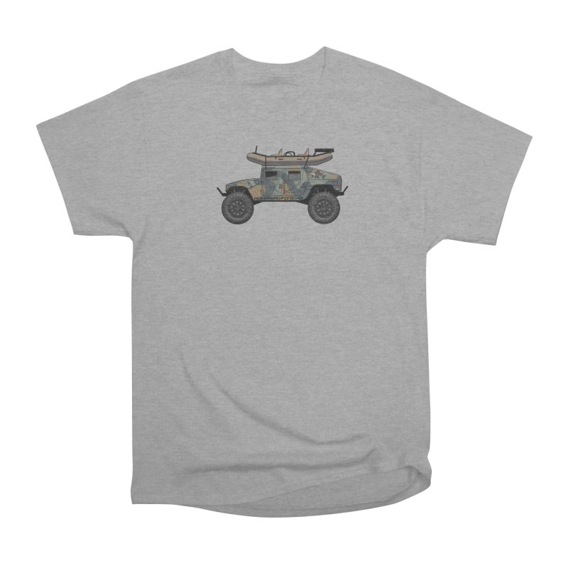 Humvee Adventure Rig Men's Heavyweight T-Shirt by Boneyard Studio - Boneyard Fly Gear