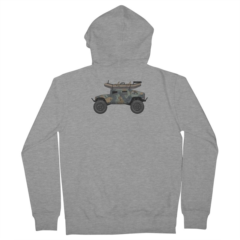 Humvee Adventure Rig Men's French Terry Zip-Up Hoody by Boneyard Studio - Boneyard Fly Gear