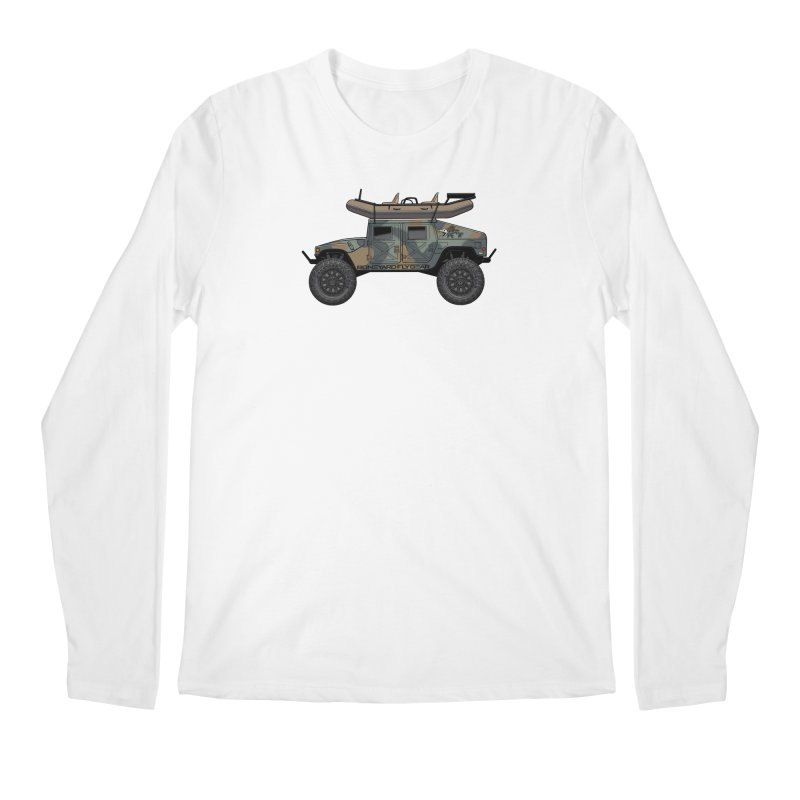 Humvee Adventure Rig Men's Longsleeve T-Shirt by Boneyard Studio - Boneyard Fly Gear