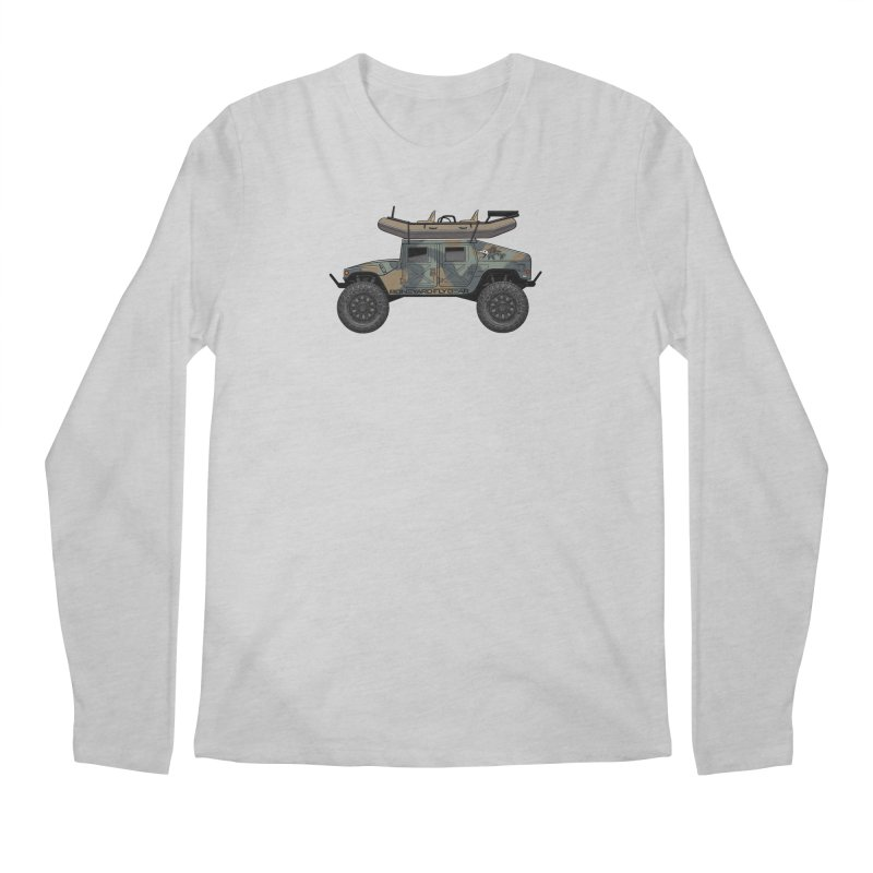 Humvee Adventure Rig Men's Regular Longsleeve T-Shirt by Boneyard Studio - Boneyard Fly Gear