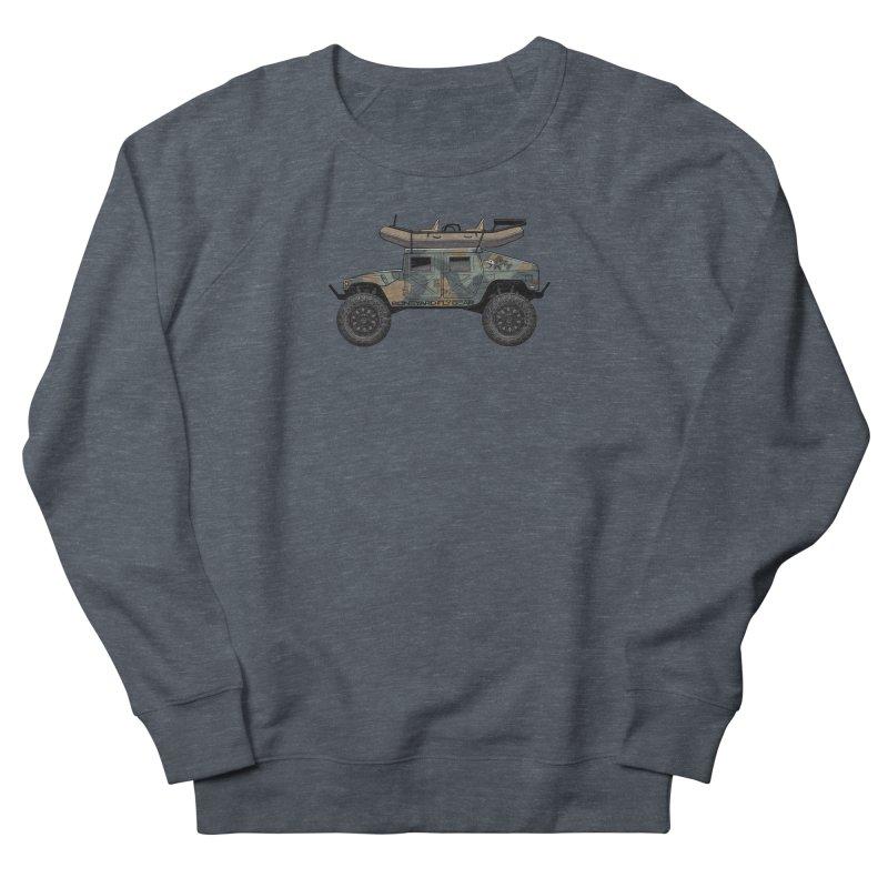 Humvee Adventure Rig Men's French Terry Sweatshirt by Boneyard Studio - Boneyard Fly Gear