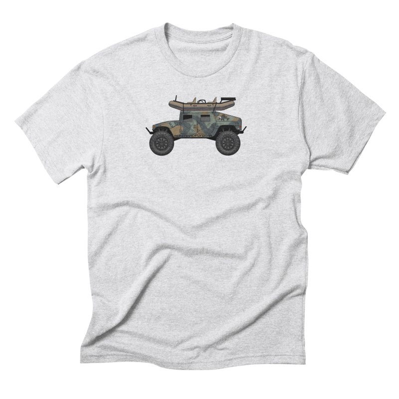 Humvee Adventure Rig Men's Triblend T-Shirt by Boneyard Studio - Boneyard Fly Gear