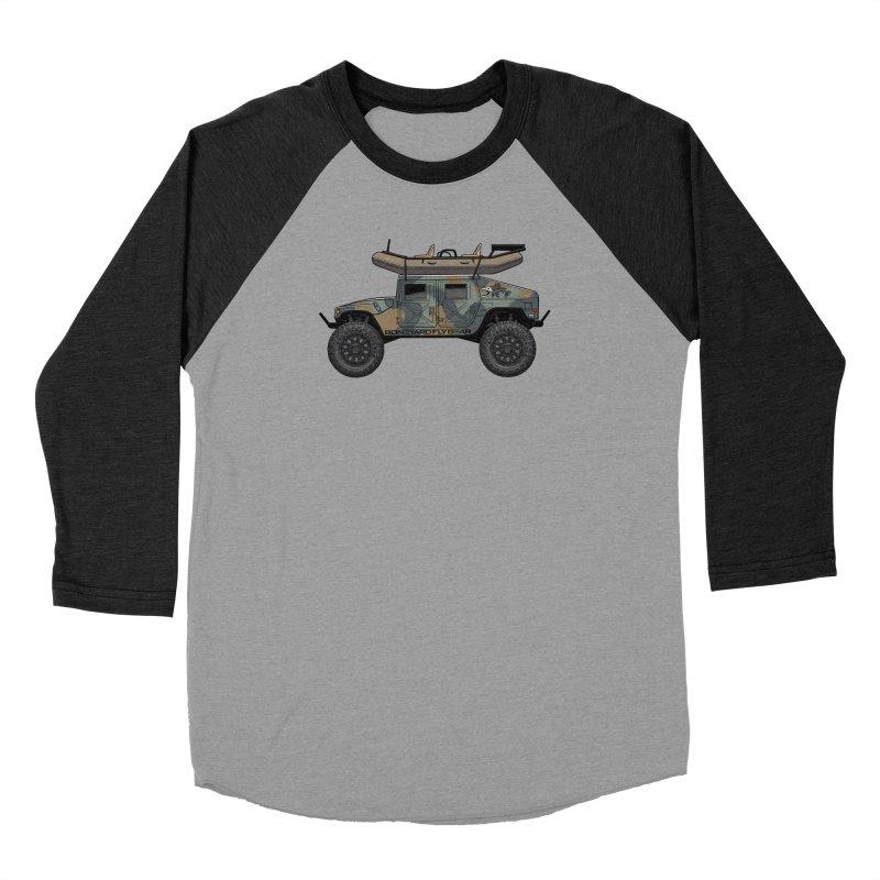 Humvee Adventure Rig Women's Baseball Triblend Longsleeve T-Shirt by Boneyard Studio - Boneyard Fly Gear